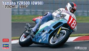 Hasegawa 21727 1/12 Scale Model Kit TECH21 Yamaha YZR500 0W98 1988 T.Taira