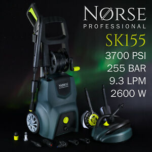 3700psi High Power Electric Pressure / Jet washer  - NORSE Professional SK155