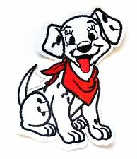 Dalmation Dog Iron On Patch- Embroidered Appliques Puppy Animal Badge Sew Crafts