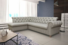 Ecksofa mit Schlaffunktion Chesterfield  Polstersofa Couch PRINZ Antikes Sofa 13