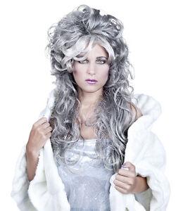 Ladies Ice Queen Wig Frozen Christmas Ghost Scrooge Fancy Dress Costume New