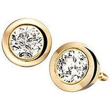 Kleine 585er Diamanten Ohrstecker 0,10 ct Ohrringe Gelbgold 14 Karat echt Gold