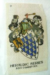 B.D.V. Cigarettes Silk- HERALDIC SERIES, No.2 (Org*, apx. 7x4.5 cm)