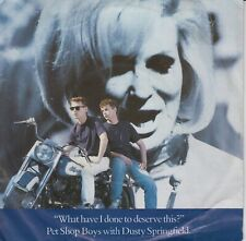 "Pet Shop Boys & Dusty Springfield 7"" vinyl What Have I Done To Deserve This 1987"