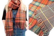 Women's Fashion Knit Wool Casual Winter Warm Tartan Check Neck Shawl Wrap Scarf