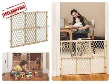 Wood Baby Child  Infant Safety Gate Position Lock Infant Pet Gate