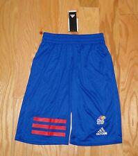 Adidas KU Jayhawks Basketball Shorts NWT Size S Kansas Blue Men's MM 3S 2.0