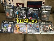Complet set of 18 Exclusive Disney Star Tours The Muppets Star Wars Figures New