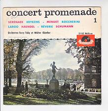 CONCERT PROMENADE Vinyle 45T EP SERENADE Heykens MENUET Boccherini LARGO Haendel