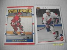 LINDROS BOTH CARDS: ROOKIES FROM SCORE 90-91 BILINGUAL AND UD 91-92 ENGLISH