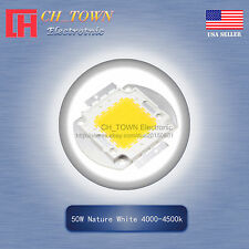 1pcs 50w Watt High Power Nature White 4000 4500k Smd Led Chip Cob Lamp Lights