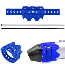 1 STÜCK Blau Motorrad Dirt Bike Auspuff Schutzfolie Abdeckung Hitzebeständig