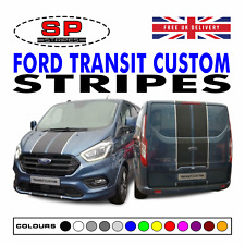 Ford Transit Custom Vinyl Bonnet & Rear Stripes Graphics Racing Sport Decals 37