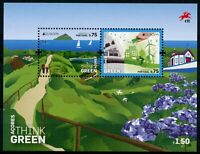 Portugal Azores Europa Stamps 2016 MNH Think Green Windmills Bicycles 2v M/S