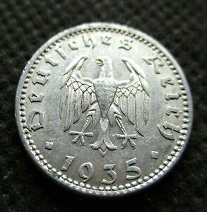 OLD COIN OF THIRD REICH GERMANY 50 REICHSPFENNIG 1935 A BERLIN