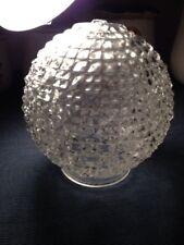 Vintage Antique Ceiling Fan Light Cover Shade Globe Diamond Quilt Hobnail GTW