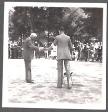 Vintage 1930'S Smooth Hair Fox Terrier Dog Posing Leash At Dog Show Mexico Photo