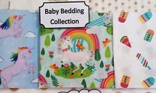 BABY SET New UNICORN MAGICAL Cotton FITTED Sheet Bedding Cot Bassinet Crib Boori