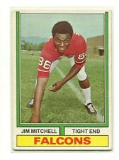 1974 Topps Parker Brothers #107 Jim Mitchell Atlanta Falcons Excellent