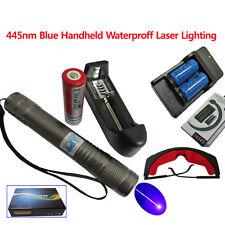 Bright 445 Blue Handheld Waterproof  Laser Pointer Light Pen Lazer lighting