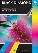 SALE 50 Sheets Professional Grade A3 Gloss Inkjet Printer Photo Paper 260gsm NEW
