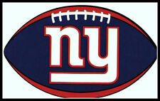 NEW YORK GIANTS OVAL FOOTBALL NFL LICENSED TEAM LOGO INDOOR DECAL STICKER