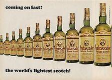 1964 Ambassador Deluxe Scotch Vintage Bottle World's Lightest Scotch PRINT AD