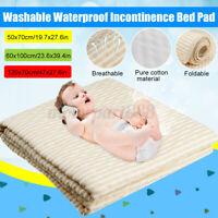Washable Waterproof Incontinence Bed Seat Pad Protector Mattress Pad Mat