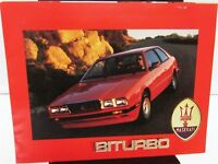 1985 Maserati Biturbo Dealer Sales Brochure Original Rare