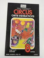 Atari 2600Tele-Games Circus Instruction Manual