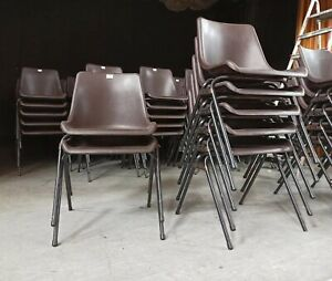 Stacking chairs Brown Polyprop Chairs FREE DELIVERY IN MANCHESTER**