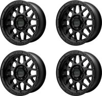 "Set 4 17"" KMC KM535 Grenade Off-Road 17x8.5 Matte Black 6x135 Wheels 0mm Rims"