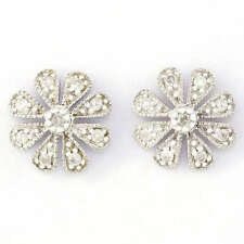 Butterfly Fastening Cluster Good Cut Fine Diamond Earrings