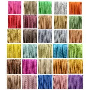 4mm BARLEY TWIST POLYESTER ROPE CORD BRAIDED ROPE  CRAFT STRING 31 COLOURS