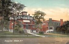 Ithica New York~Hospital~Mansard Roof~Victorian Architecture~1910 Postcard
