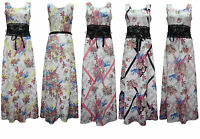 Ladies New Evening Party Skirt Womens Summer Long Maxi Dress Size 8-14