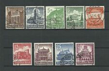 ARCHITECTURE, CASTLES OF THIRD REICH. GERMANY. 1939. Mi 751-759. FULL SET !