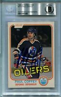 OILERS PAUL COFFEY signed autographed 1981-82 OPC ROOKIE CARD RC BECKETT (BAS)