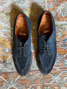 Alden x Leffot NST Blucher Shoe in Navy Suede 10 Made In USA $590