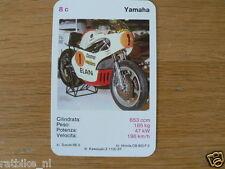 EASY RIDER 8C YAMAHA 650 CC RACE KWARTET KAART, QUARTETT CARD,SPIELKARTE
