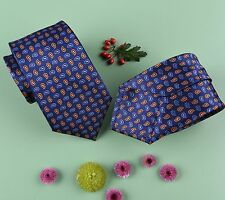 Navy Blue Paisley Woven Tie, A Touchstone In Menswear.