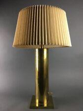 Vintage Stiffel Modern Brass Cylinder Table Lamp
