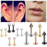 Punk Labret Tragus Lip Bar Cartilage Helix Ear Ring Ear Stud Piercing Jewelry