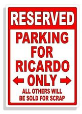 Personalized Parking Sign Wall Decal Metal Sign No Parking Customized RICARDO