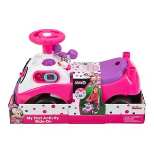 NEW Disney Minnie Mouse My First Activity Ride-On-Turn the dial for fun sounds