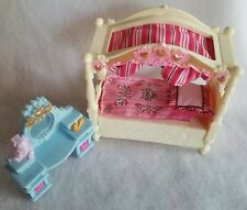 Fisher Price Dollhouse Loving Family Girls Bedroom Desk Canopy Bed Daughter