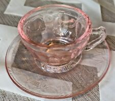 Rare MOSSER Pink Depression Glass JENNIFER SET #2 Original Box Miniature Dishes