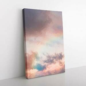 Rainbow Through the Clouds in Abstract Canvas Print Wall Art Picture Large
