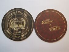 Beer COASTER ~*~ The BRUERY & Terreux ~ Barrel Aged Beer Day in October ~ CALIF.