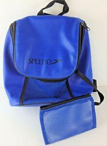 Speedo Blue PVC Swim Gear Bag Adjustable Shoulder Strap Extra Smaller Bag